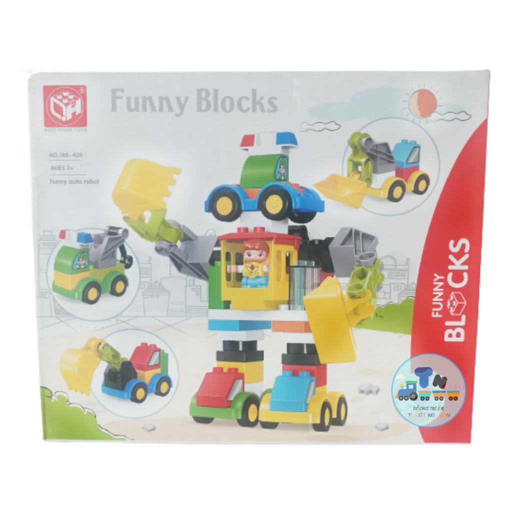 HỘP LEGO RÁP ROBO XE 49 CHI TIẾT