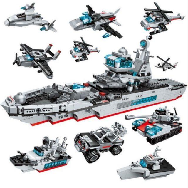 Bộ Lego enlighten 1411 bộ xếp hình lắp ráp tàu chiến hạm Seri quân đội