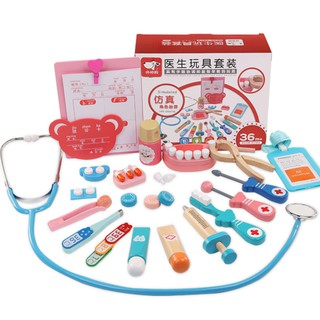 24pcs/set Dentist Toys Out-call Suit Childrens Doctor Toy Set Imitated Medical