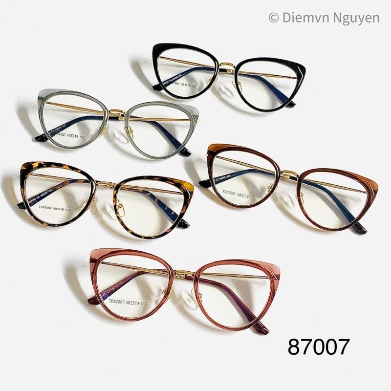 Gọng kính cận Mắt mèo cao cấp, xịn xò 87007 hàng loại 1 cho các bạn nữ