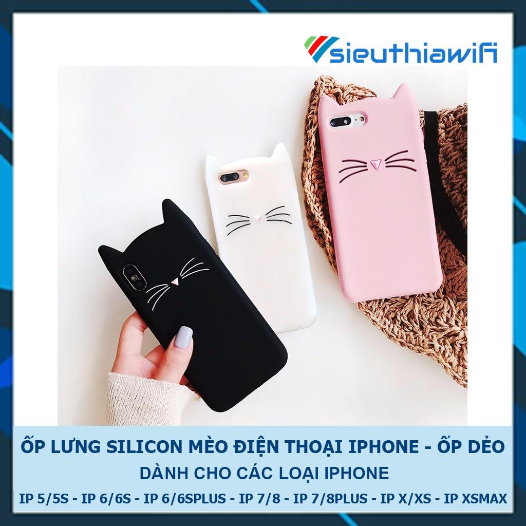 [FREESHIP ĐƠN TỪ 50K TOÀN QUỐC ] ỐP LƯNG SILICON MÈO - ỐP IPHONE DẺO [ G3-1 ]