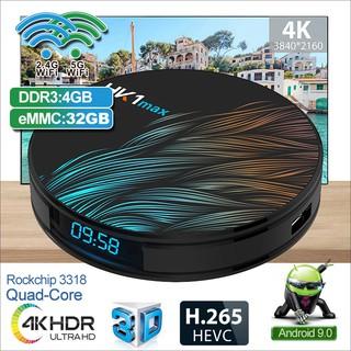Android TV Box Ram 4G, bộ nhớ 32G, có tính năng tìm kiếm bằng giọng nói, độ phân giải 4k bảo hành 12 tháng HK1 MAX32G