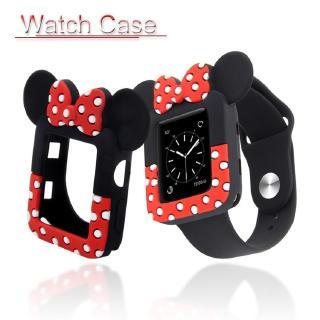 Vỏ đồng hồ mềm họa tiết Minnie cho Apple Series 5 4 3 2 1 Iwatch 38mm 42mm 40mm 44mm