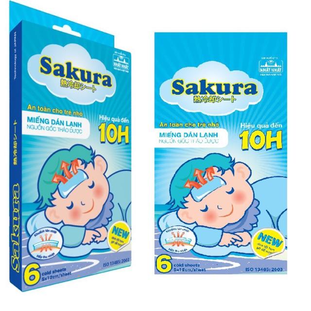Miếng dán hạ sốt Sakura - 14753661 , 1928649231 , 322_1928649231 , 45000 , Mieng-dan-ha-sot-Sakura-322_1928649231 , shopee.vn , Miếng dán hạ sốt Sakura