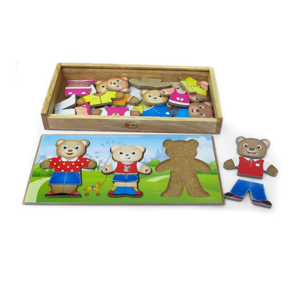Đồ chơi gỗ Winwintoys - Thời trang gia đình gấu 68232