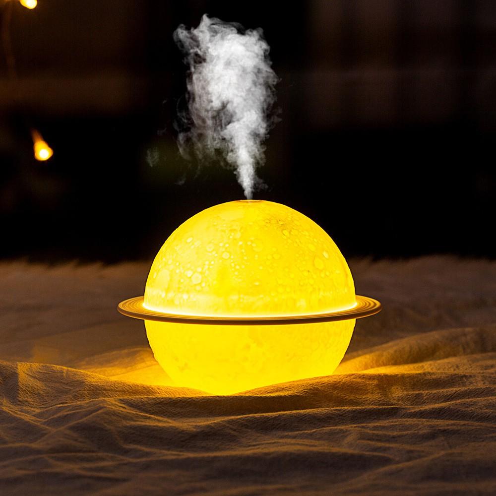 Máy Phun Sương - Máy Khuếch Tán Tinh Dầu Tạo Độ Ẩm Kiêm Đèn Ngủ Hình Quả Địa Cầu Dung Tích 880Ml