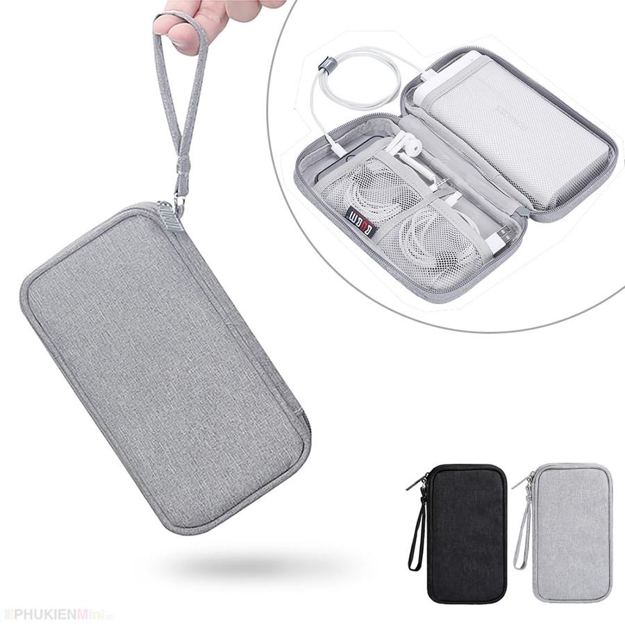 Túi đựng phụ kiện điện thoại, túi công nghệ BUBM 1 ngăn, 2 ngăn đựng cáp sạc tai nghe pin dự phòng có quai xách tiện lợi