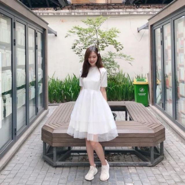 Váy trắng prom tiểu thư