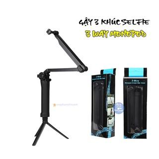 Yêu ThíchGậy 3 Khúc Selfie Gopro – 3 Way Monopod Action Camera