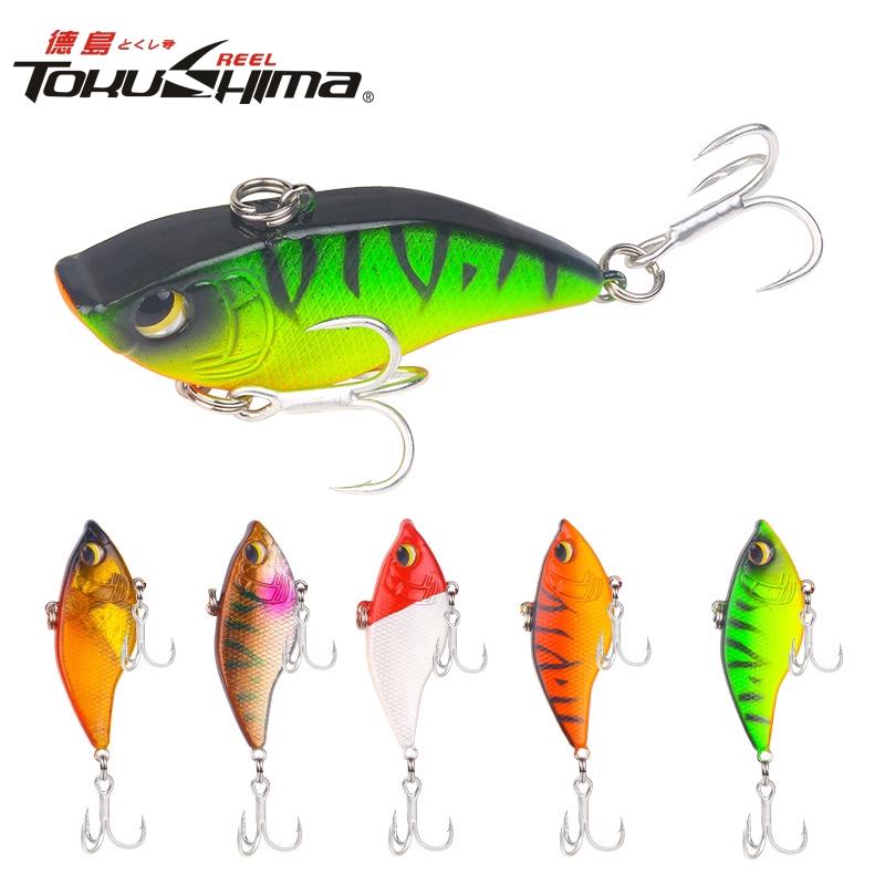 TOKUSHIMA 1PCS VIB 15g/5.5cm Metal Laser VIB Fishing Lure Fishing Tackle Crankbait Spoon Spinner