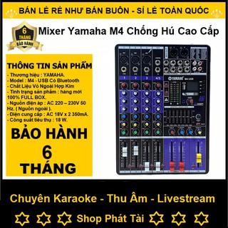 Mixer Yamaha M4 USB Bluetooth, Bộ Chuyên Hát Livestream Karaoke Rất Hay - Tặng Giắc 6,5 thumbnail