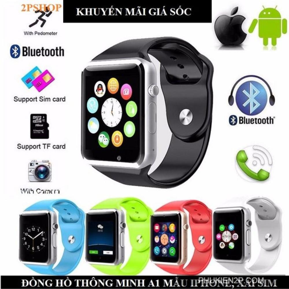 Đồng hồ SMARTWATCH A1 ,camera HD,khe sim,lcd cảm ứng,,khe thẻ nhớ,blutooth...