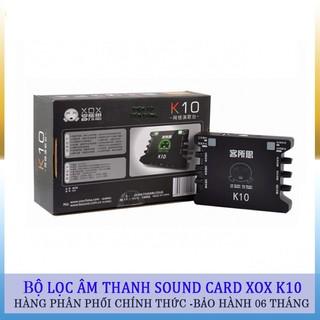 Soundcard thu âm XOX K10 /KS108 karaoke online tặng kèm cáp kêt nối âm thanh -dc2316
