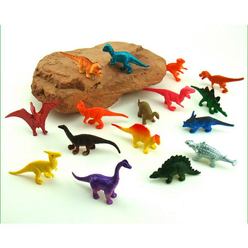 16pcs/set Dinosaurs Model Cute Gifts Toys Hobbies Kids Dinosaurus Figures Toy