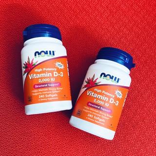 VITAMIN D3 Now Vitamin D3 2000 IU 120 - 240 viên Tăng Đề Kháng - Nhập Mỹ - Muscle Fitness thumbnail