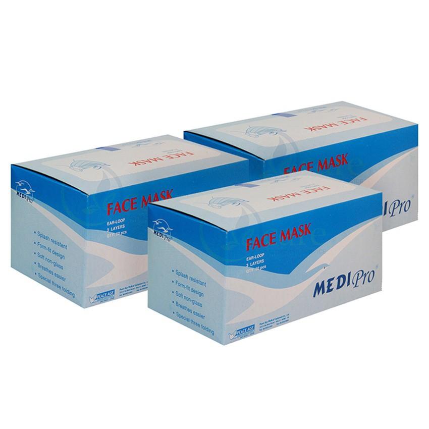 Bộ 3 hộp khẩu trang y tế Medi Pro 3 lớp hộp 50 cái x 3 - 10006811 , 205334948 , 322_205334948 , 150000 , Bo-3-hop-khau-trang-y-te-Medi-Pro-3-lop-hop-50-cai-x-3-322_205334948 , shopee.vn , Bộ 3 hộp khẩu trang y tế Medi Pro 3 lớp hộp 50 cái x 3