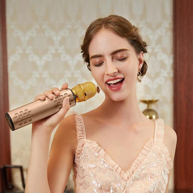 Micro Bluetooth không dây Karaoke hút âm siêu nhẹ cao cấp PKCB cho điện thoại 247 - Hàng Chính Hãng