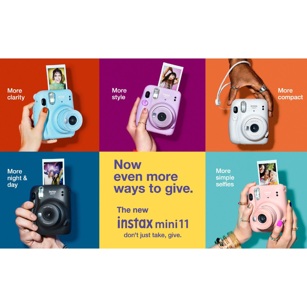 Máy ảnh chụp lấy liền Fujifilm Instax Mini 11 hàng mới 100% - Bảo hành 12 tháng - Tặng kèm film