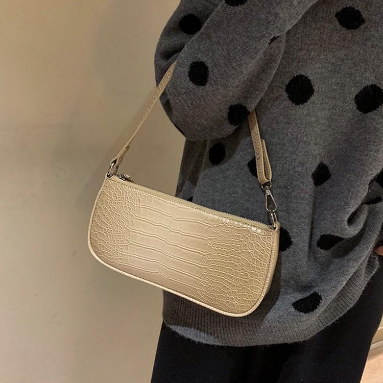 [HÀNG CHÍNH HÃNG] Túi Nữ Shoulder Bag Kẹp Nách Vân Da Rắn Thời Trang PARIS673
