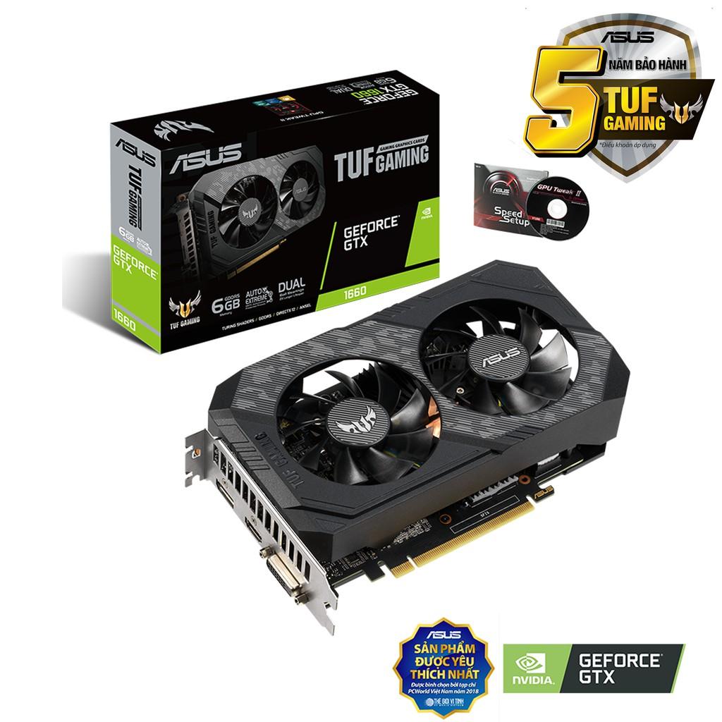 VGA ASUS TUF GTX 1660 6G GAMING NEW BOX BẢO HÀNH 5 NĂM