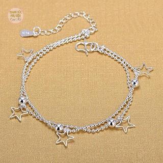 Lắc chân dây đôi mẫu mới, bạc S925 cực xinh, giá siêu rẻ - LC38 thumbnail