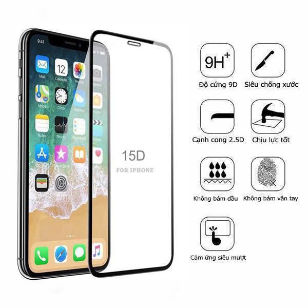 Kính cường lực iphone 15D REMAX full màn