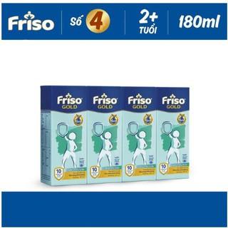Lốc Sữa Bột Pha Sẵn Friso Gold 180ml (4 X180ml) thumbnail