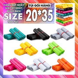 [Rẻ Nhất] 100 Túi Gói Hàng Niêm Phong Thông Dụng Size 20×35 cm, Túi Gói Hàng Tự Dính Cao Cấp
