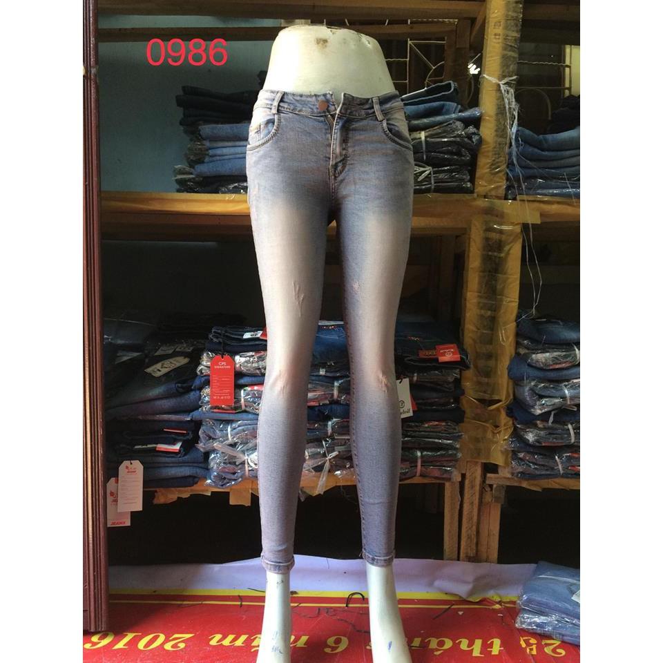 quần jean nữ trơn 0986