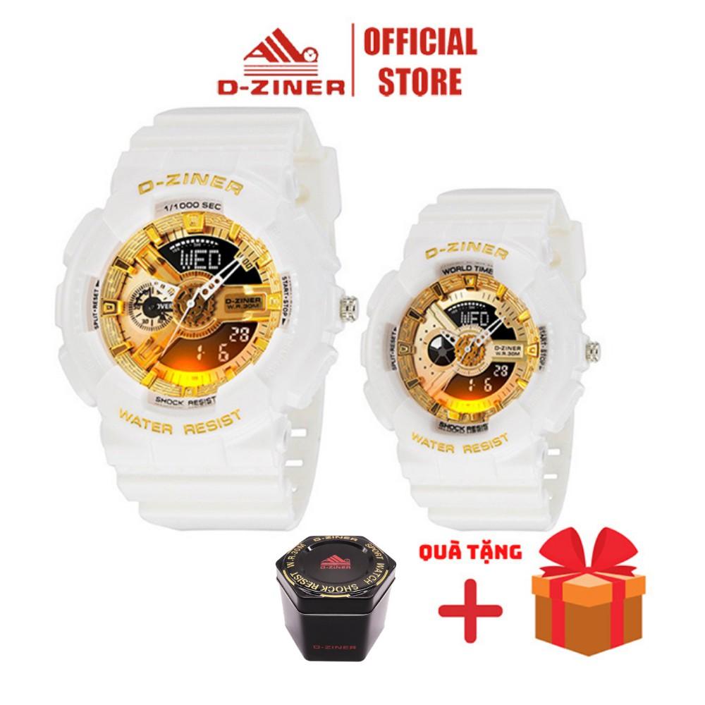 Đồng Hồ Đôi Điện Tử Thể Thao Nam Nữ D-ZINER Chính Hãng 8248 Full Box - LINDO