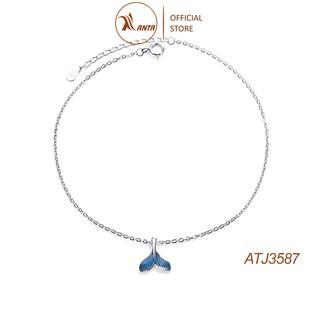 Lắc chân thiết kế hình đuôi nàng tiên cá đính ngọc đơn giản thời trang cho nữ ANTA Jewelry - ATJ3587 thumbnail