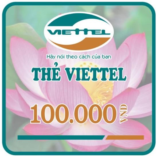 Thẻ nạp điện thoại Viettel 100K