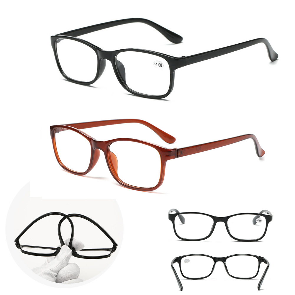 🌸EUTUS🌸 Women Presbyopia Eyewear Elderly Accessories Vision Care Reading Glasses +1.00~+4.0 Diopter Ultra Light Resin Lightweight Men Eyeglasses/Multicolor