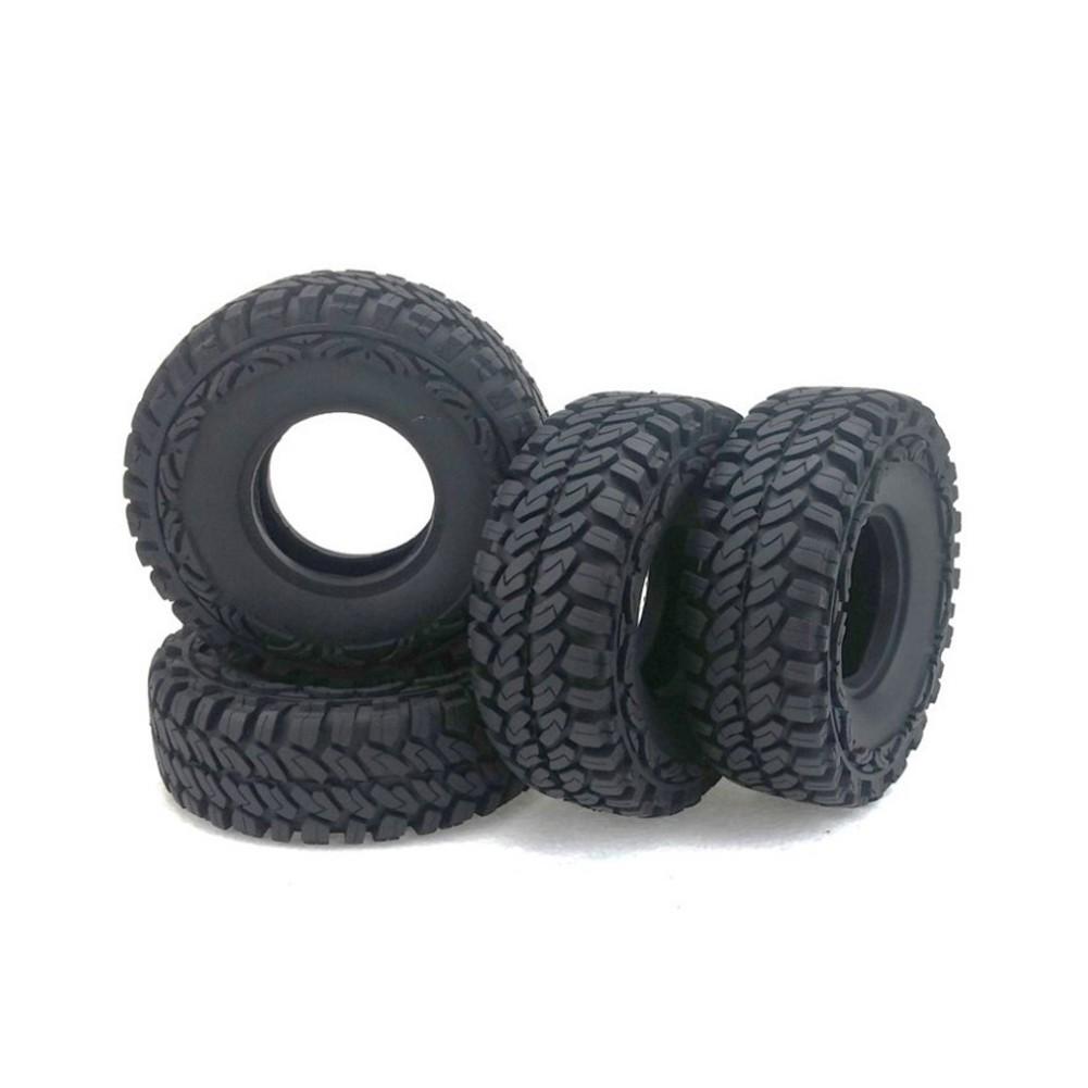 4Pcs 1.9Inch Rubber Rocks Tyres Wheel for 1:10 RC Rock Crawler Axial SCX10 D90 D110 TRX-4