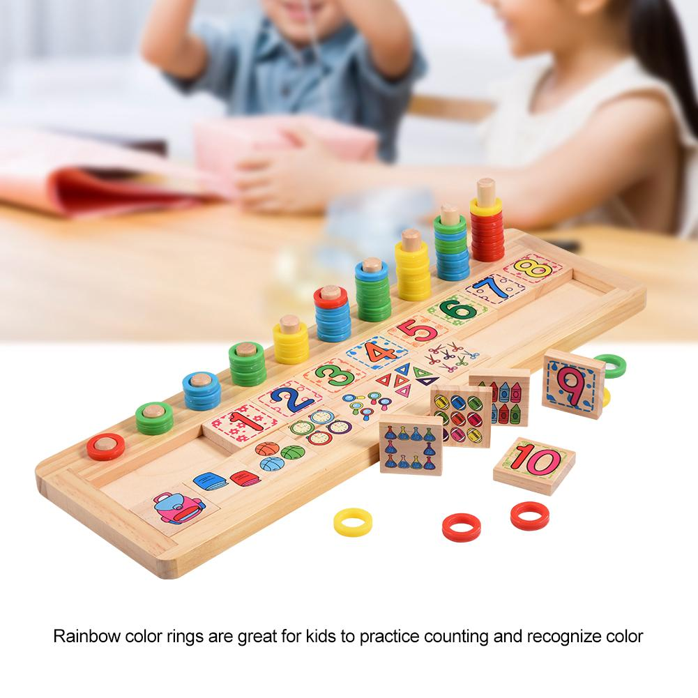 Funny Wooden Number Counting Early Learning Educational Toy