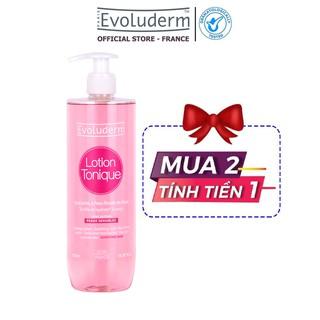 Nước hoa hồng Evoluderm Lotion Tonique dành cho da nhạy cảm 500ml