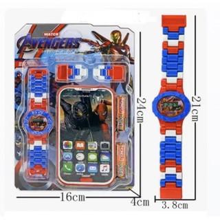 Đồng hồ lego kèm đien thoại siêu xinh cho bé trai - bé gái