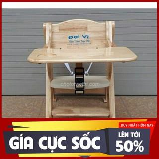Ghế gỗ ăn dặm Đại vĩ, điều chỉnh cao thấp, có bàn ăn KT009 – Hàng nhập khẩu