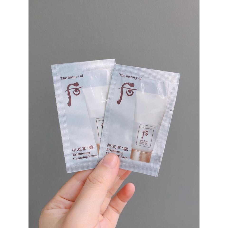 Combo 10 gói Sữa rửa mặt làm trắng sáng da WHOO - 2604704 , 25347502 , 322_25347502 , 80000 , Combo-10-goi-Sua-rua-mat-lam-trang-sang-da-WHOO-322_25347502 , shopee.vn , Combo 10 gói Sữa rửa mặt làm trắng sáng da WHOO