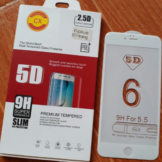 Cường lực Iphone6 Plus 5D full màn hình kèm phụ kiện
