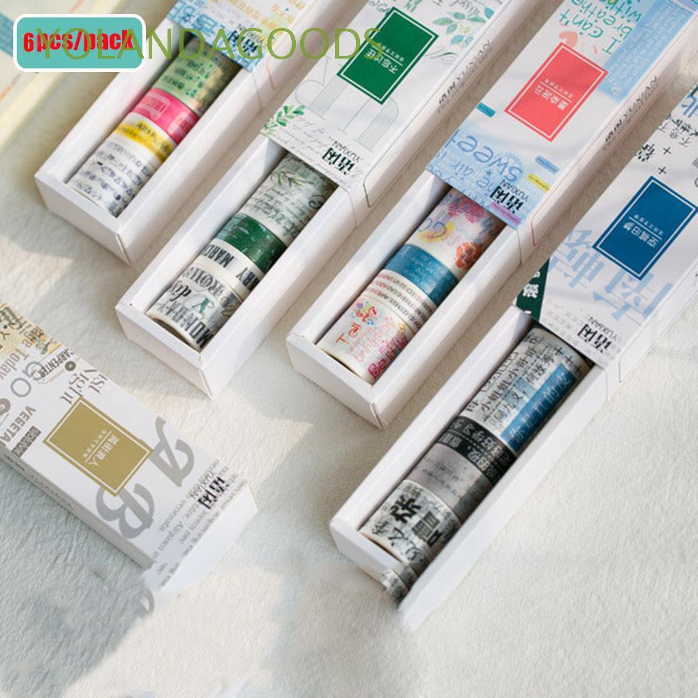 6Rolls Fashion Adhesive Decorative Stylish DIY Tape