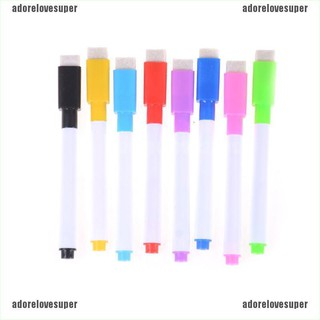 [adorelovesuper]5pcs/set Colourful Dry Wipe Board Window Markers Pens With Eraser Office Supply