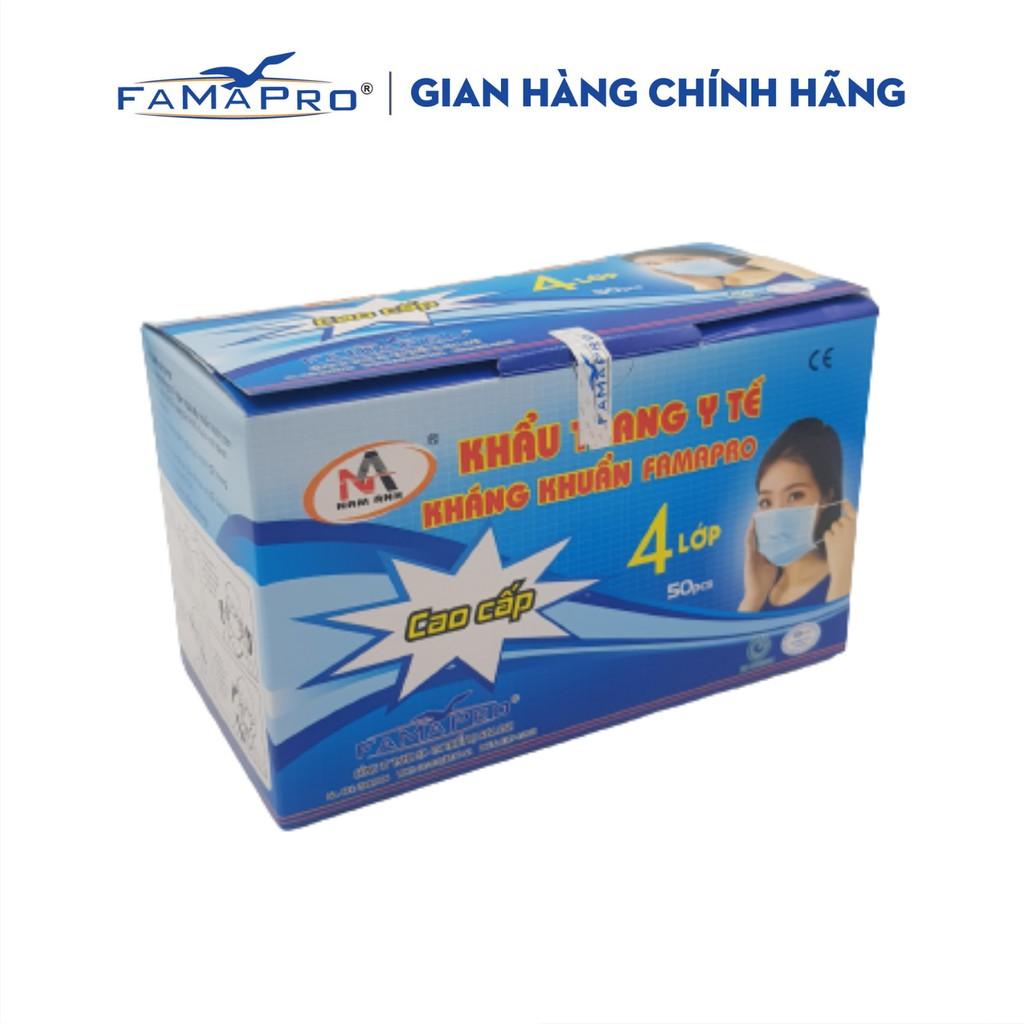 Khẩu trang y tế 4 lớp kháng khuẩn Famapro ( 50 cái/ hộp)