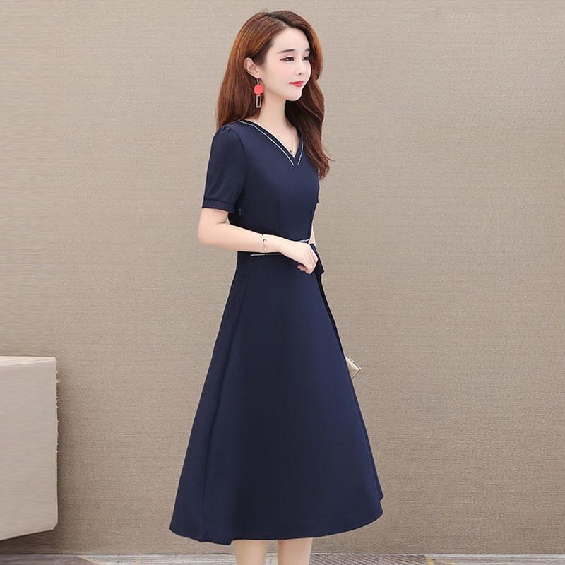 Mặc gì đẹp: Tung bay với Váy trung niên đẹp, dáng xòe sang trọng, che khuyết điểm tốt, vải Voan Pháp thoáng mát - Mã L01 - WOBE
