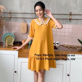 Váy Bầu 💗 Đầm bầu mùa hè dáng suông tôn dáng thiết kế Medyla – V51