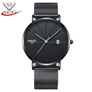 Đồng hồ nam Nibosi 2321 DÂY LƯỚI máy mỏng thumbnail