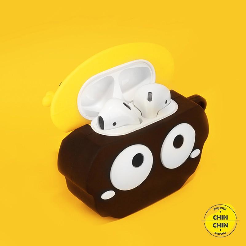 Case Airpod 2 Vỏ Bọc Tai Nghe Airpods 1 2 Pro Susuwatari Mũ Vàng Siêu Cute Chất Liệu Silicon Dẻo - Chinchin Case