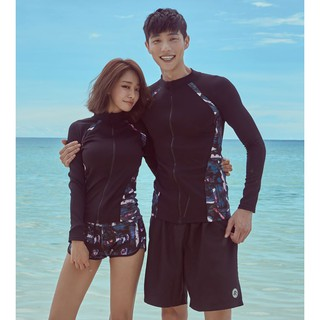 Đồ bơi dài tay nam nữ áo khoác chống nắng Hàn Quốc