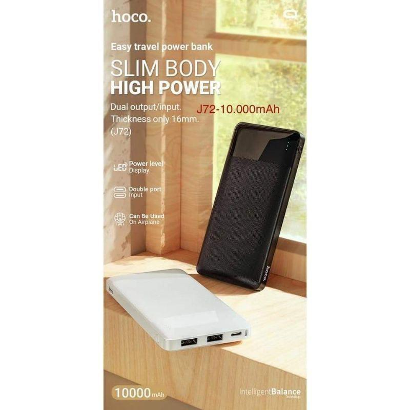 Sạc pin Dự Phòng Hoco J72 sạc cùng lúc 2 điện thoại