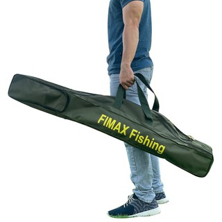 [CỰC BỀN] túi đựng cần câu máy 2 khúc loại lớn FIMAX 1m15/1m45/1m65, túi đựng cần câu cá 3 ngăn 2 chính 1 phụ